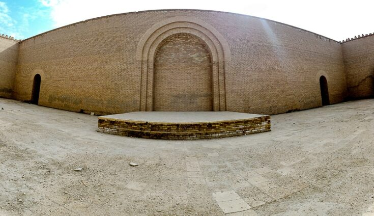 The rebuilt throne room of Nebuchadnezzar and where Alexander the great is belived to have died.
