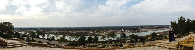 The River of Babylon as seen from Saddam Husseins palace