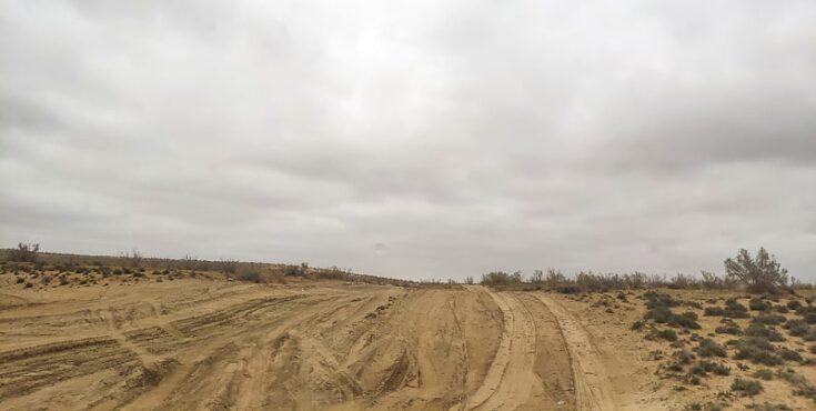 The Dirt road the last 7km turkmenistan