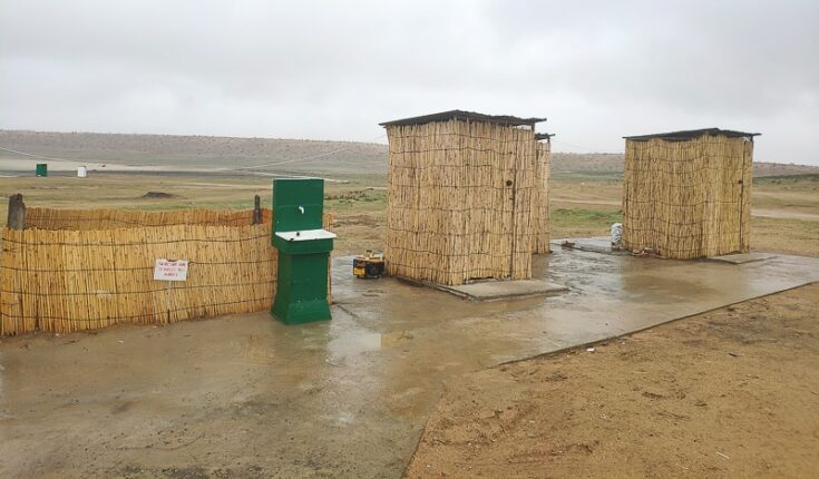 2 of the five toilets that´s put up, it´s western working flushing toilets, and its´clean! turkmenistan toiliets