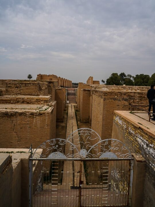 Original walkways in Babylon, this is where the Ishtar gate which is located in Berlin once stood.