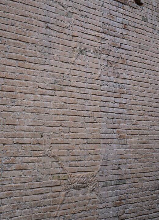 Original tile work in Babylon