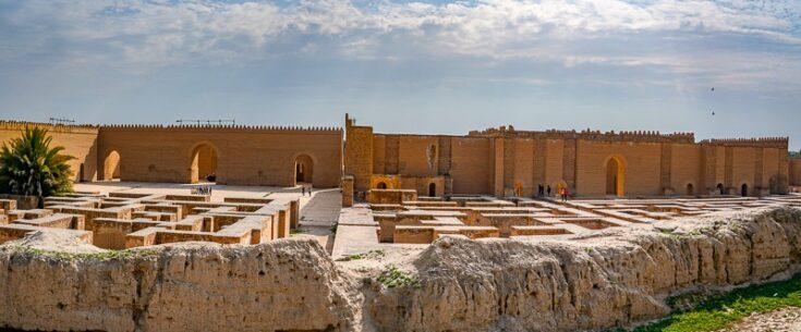Rebuilt and original parts of Babylon