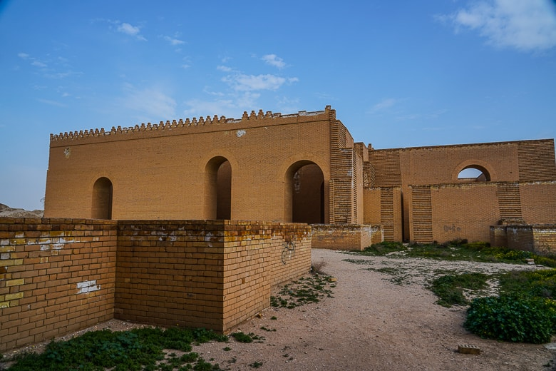 Inside what is believed to have been Nebuchadnezzar palace.