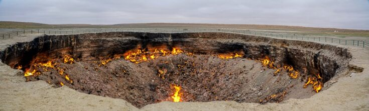 gates to hell in turkmenistan central asia