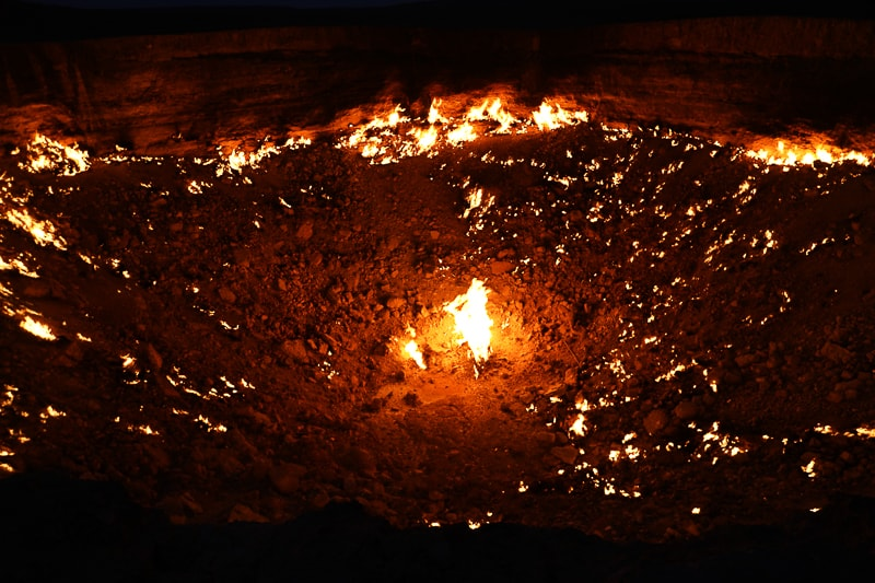 the crater after dark