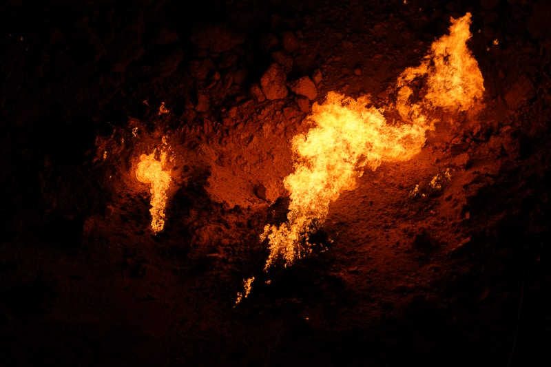 The center of the crater, the biggest flame on the gates to hell