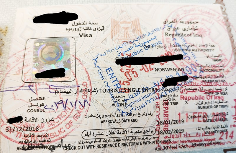 My Iraqi Tourist Visa. A rare one