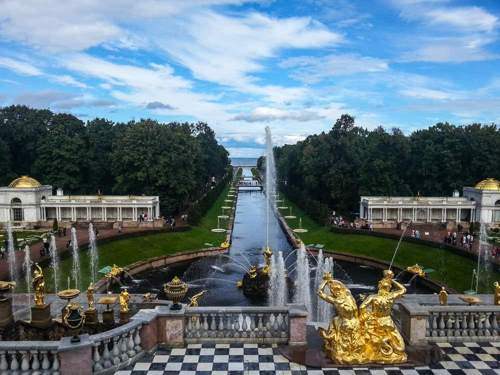 Peterhof garden.