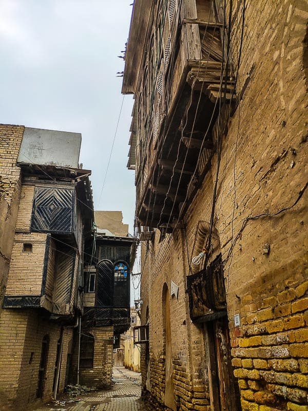 wood carved Shanasheel in a old alley of Basra in south Iraq
