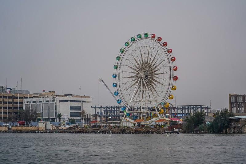 basra ferris wheel in south Iraq