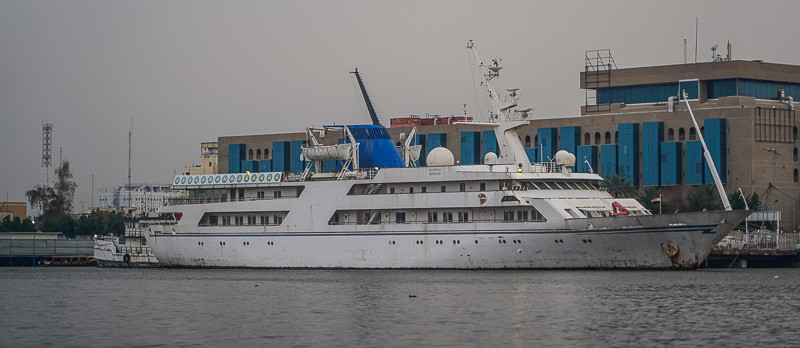 Saddam Hussein's old yacht, the Ocean Breeze in Basra south Iraq