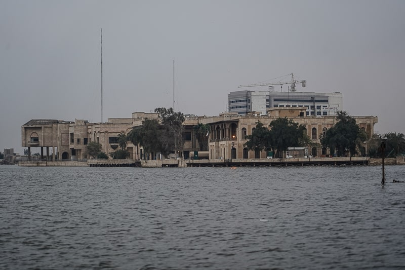 Saddam hussein palace in Basra in south Iraq