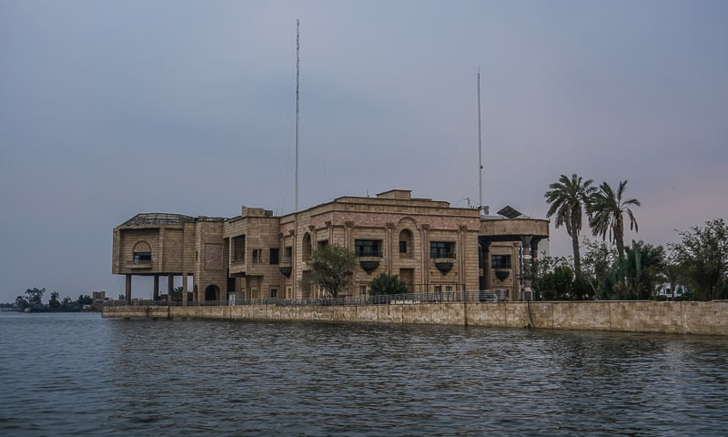 Saddam Hussein´s old palace has now been turned into Basra Museum in south Iraq
