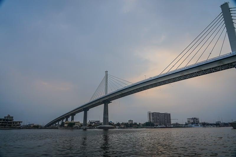 Shatt al-Arab river bridge in Basra the second largest city in Iraq