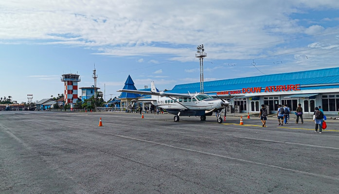 Nabire airport in west papua Indonesia