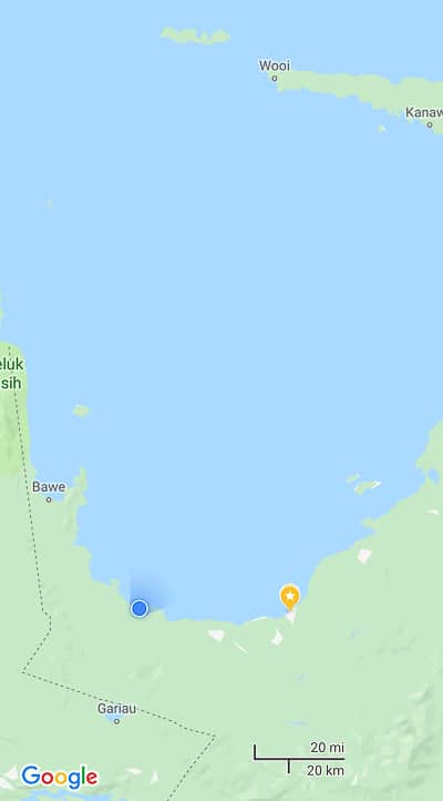 Sowa google maps, the place to whale sharks in Indonesia
