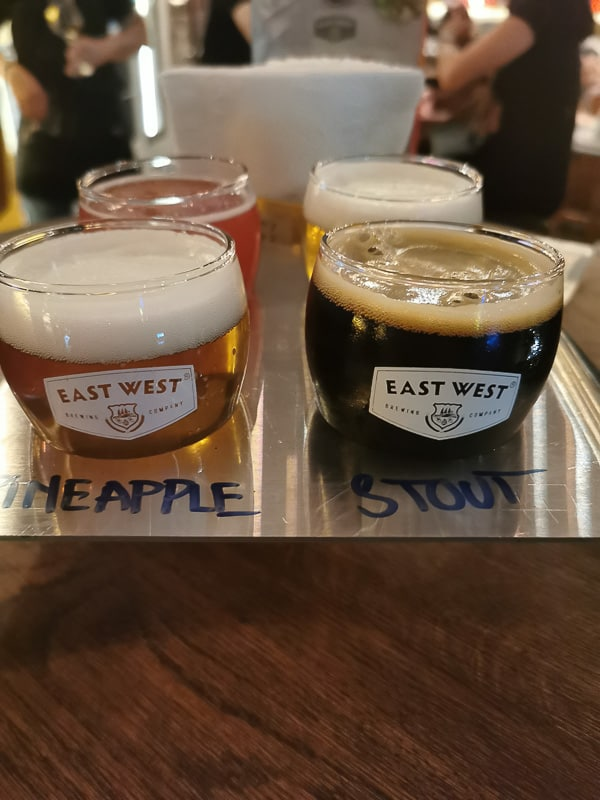 east west craft beer in vietnam sampels