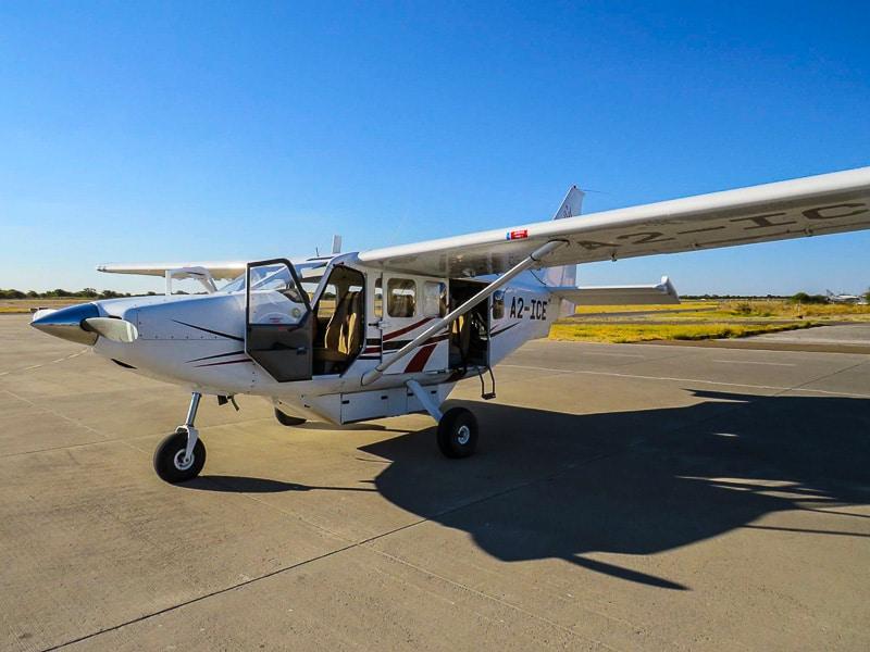 flying Okavango delta in Botswana