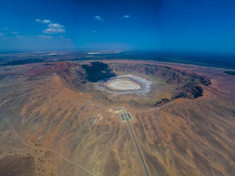 Al Wahbah Crater In Saudi Arabia.