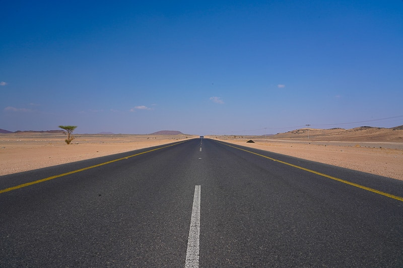 Saudi arabia road