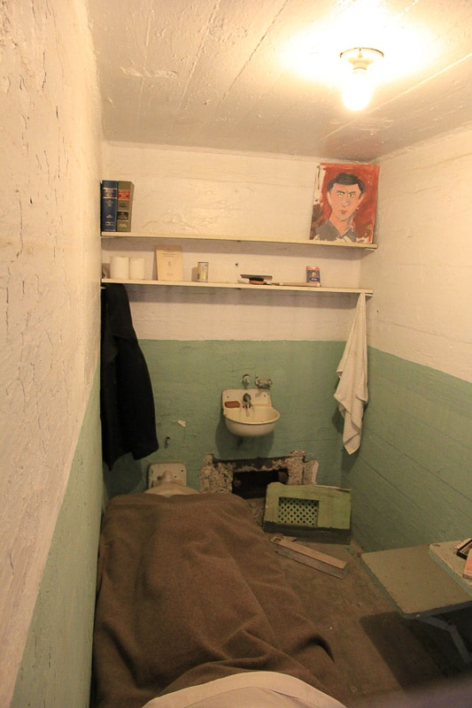 One of the cells from the famous 1962 escape. They escaped through the air vent in the back. Alcatraz Prison