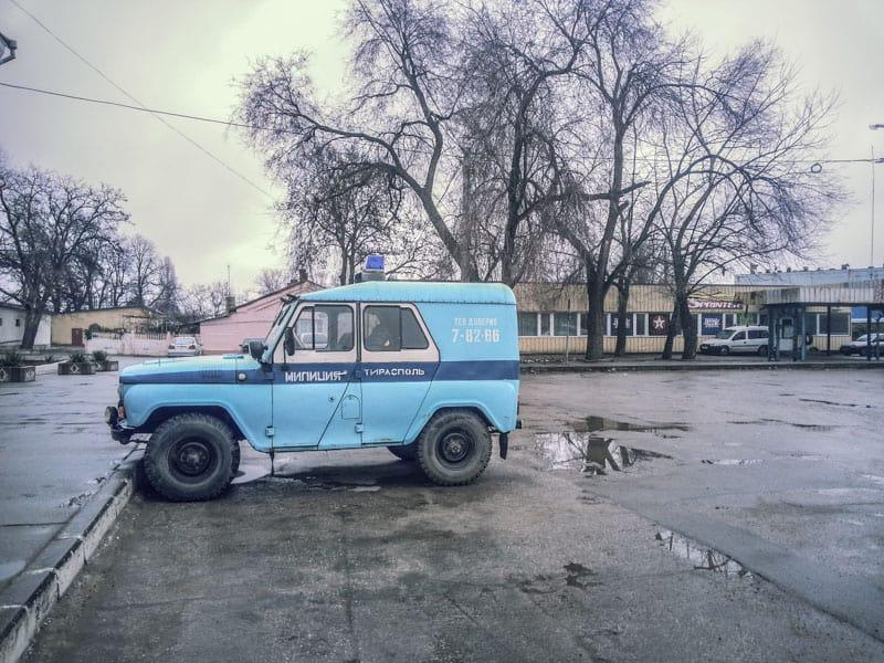 police lada in Transnistria clasic