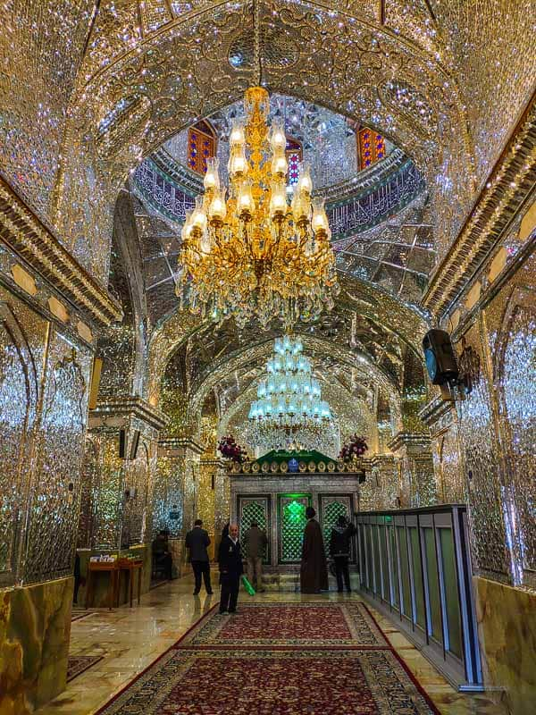 Inside the Sayyed Alaeddin Hossein Shrine