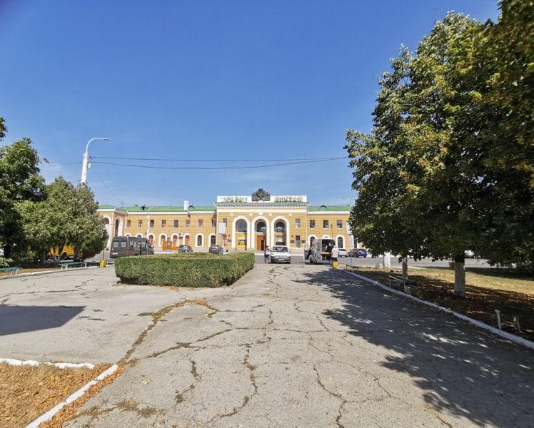 Trispol train station in Transnistria