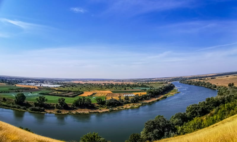 Transnistria river between Moldova and Transnistria great view
