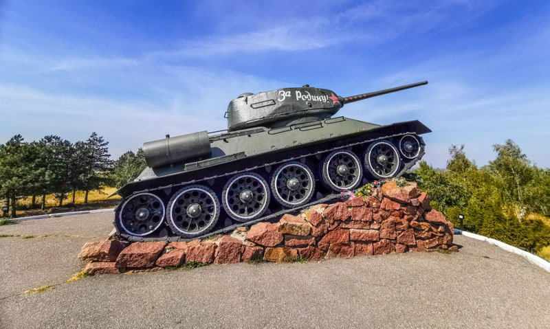 tank monument in Transnistria one of many