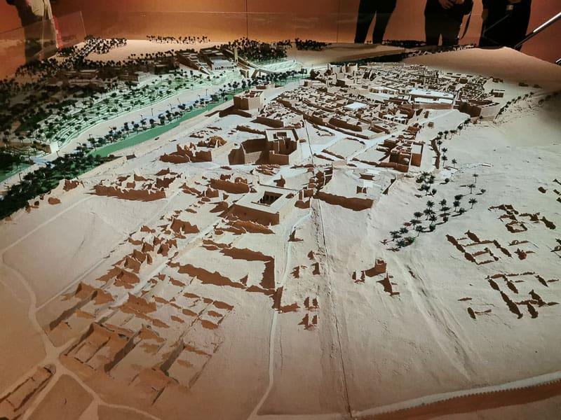Diriyah model the first capital of Saudi Arabia