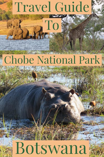 Chobe National Park is Botswana's third-largest national park,