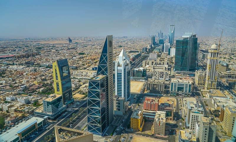 View over Riyadh from Al Faisaliyah Centre in Saudi Arabia