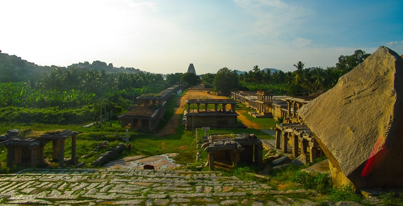 Panorama over Hampi In India