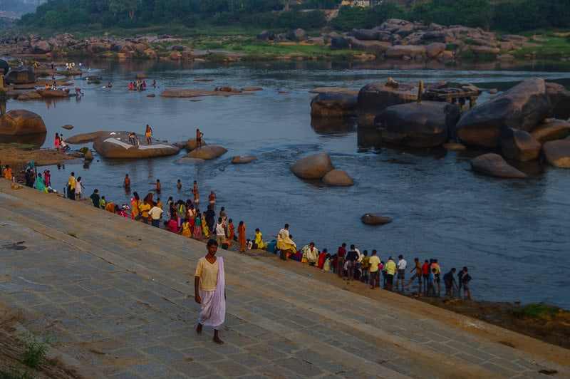 Tungabhadra River in Hampi