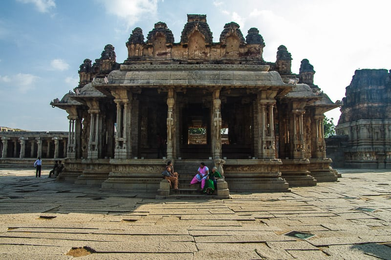 Vittala Temple Complex in Hampi in India