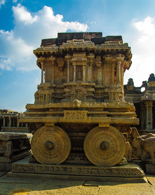 The Garuda stone chariot and Vitthala temple a masterpice