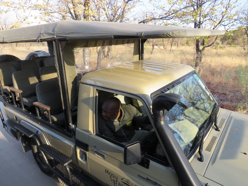 Jeep safari is also possible in Botswana