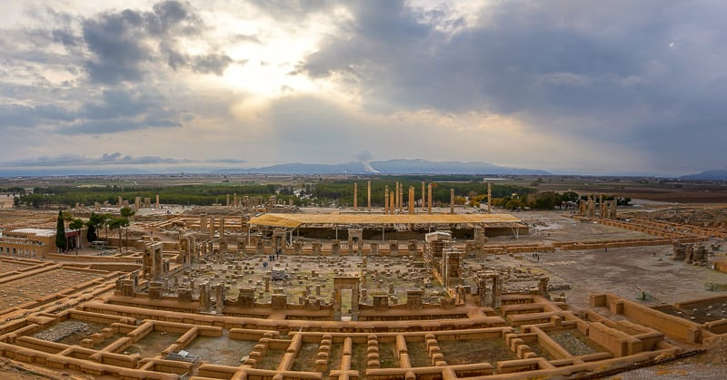 persepolis panoramic iran