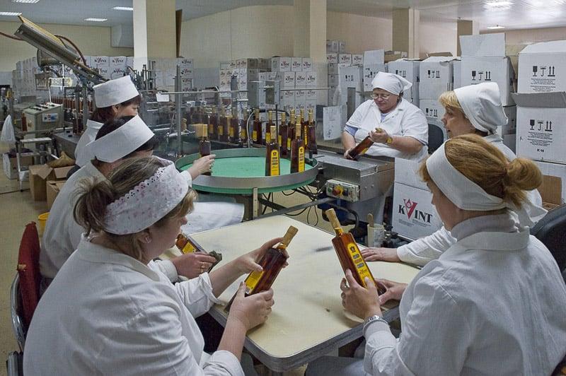 Kvint cognac distillery in Transnistria