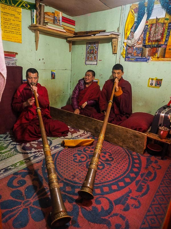 Bhutan asia monks in a monastery
