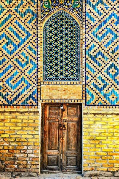 beautiful tile work at Registan.