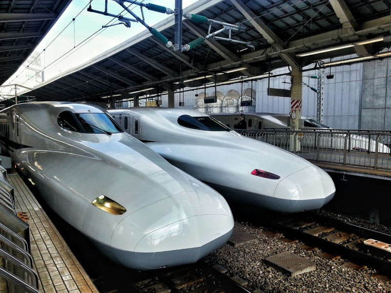 Taking the fast train in Japan, the Shinkansen can break your budget.