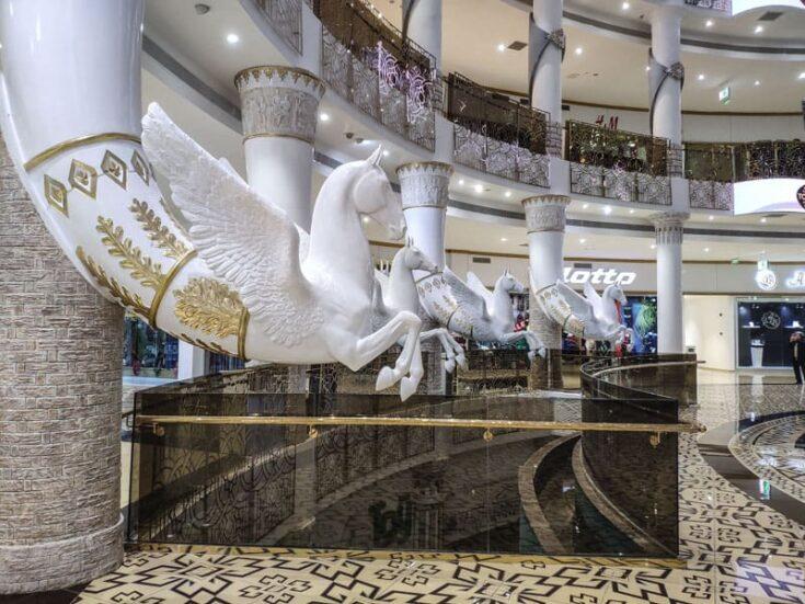 Ashgabat shopping mall marble turkmenistan