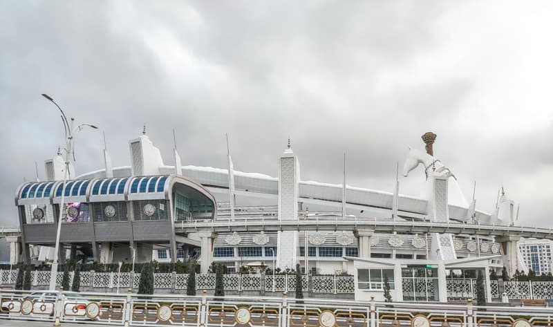 National Stadium in Ashgabat Turkmenistan.