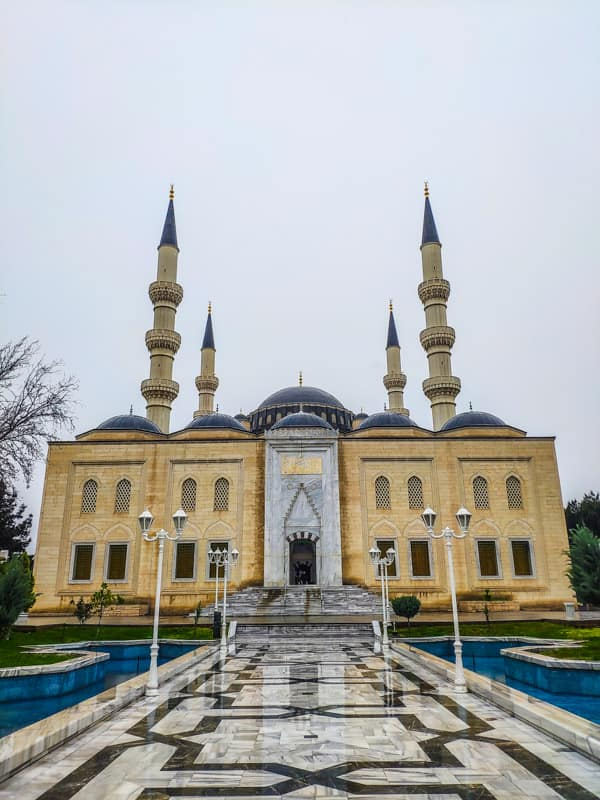 Ertuğrul Gazi Mosque which is built like the Blue Mosque in Istanbul