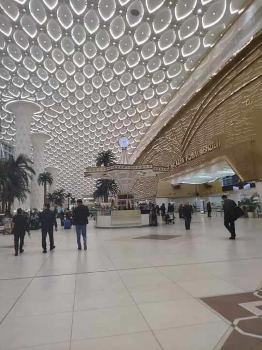 Inside Ashgabat International Airport