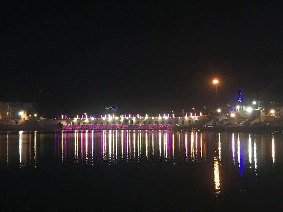 Pushkar lake during night