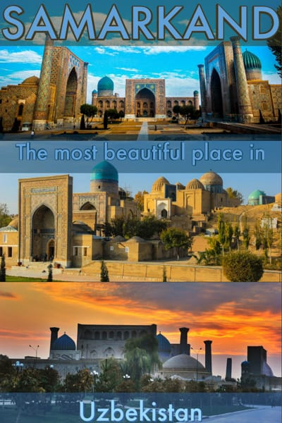 Samarkand a amazing city in Uzbekistan, central asia